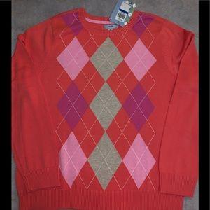 NWT Women's Argyle IZOD Sweater - Size XL